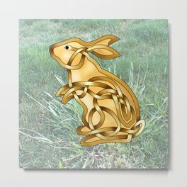 Rabbit Knot Metal Print