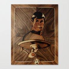 Original Leonard Nimoy (mr. Spock) on enterprise series of wood by Andulino Canvas Print