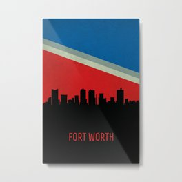 Fort Worth Skyline Metal Print