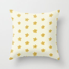Golden Yellow and Cream Daisies Throw Pillow