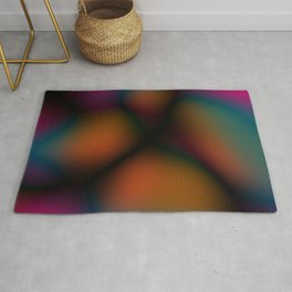 Dark Colorful Blobby Design Rug