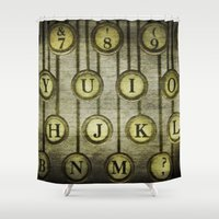Typewriter Keys 2 Shower Curtain