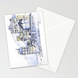 Palazzi sul mare Stationery Cards