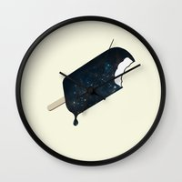 eat Wall Clocks featuring Space Melter by Zach Terrell