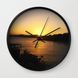 Roatan Sunset Wall Clock