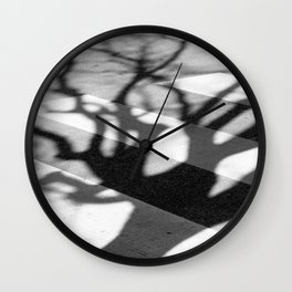 zebra crossing, tree shadow Wall Clock