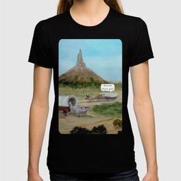 Passing Chimney Rock on the Dusty Oregon Trail T-shirt