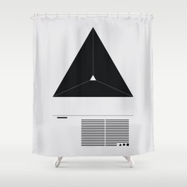 blk ∆ Shower Curtain