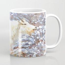Mountain Goats In the Alpine Wyoming Mountain - Rocky Mountain Goat Coffee Mug