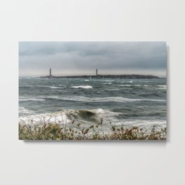 White caps with Thacher island Metal Print
