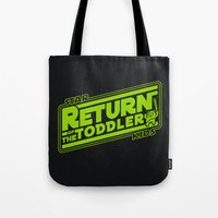 toddler Tote Bags featuring Star Kids: Return of the Toddler by Barn Bocock