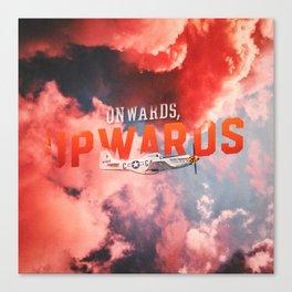 Onwards, Upwards (Full Version) - Motivational Poster Canvas Print