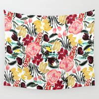 garden Wall Tapestries featuring Wild Garden II by Bouffants and Broken Hearts