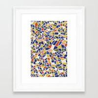 geo Framed Art Prints featuring geo by jennifer judd-mcgee