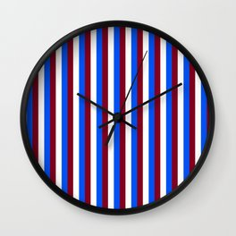 Team Colors 4... maroon,blue and white Wall Clock