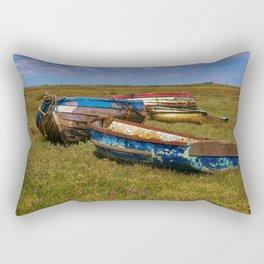 Stranded Boats Rectangular Pillow