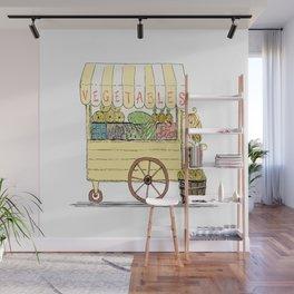 Vegetable Cart Wall Mural
