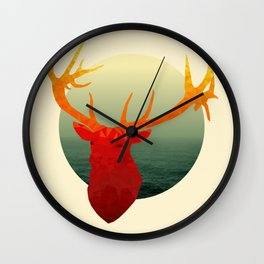 Polygon Deer // Stag Wall Clock