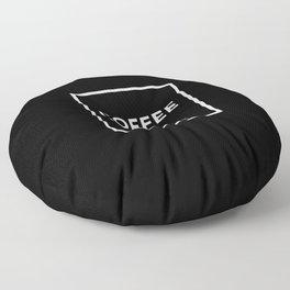 Black Coffee No5 Floor Pillow