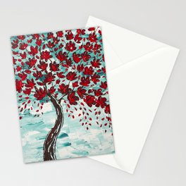 Red Cherry Tree Stationery Cards