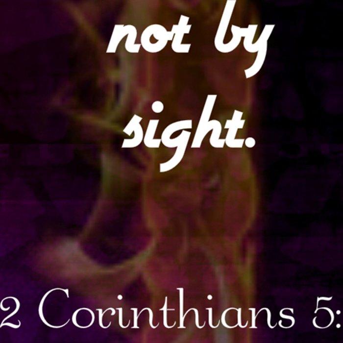 2 Corinthians 5:7 Bible Verse Quote About Faith Leggings