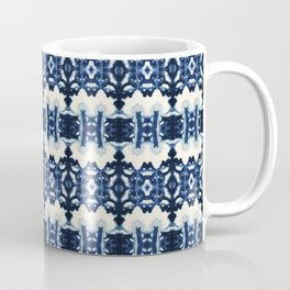 Ornate Blue and White Shibori Coffee Mug
