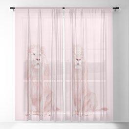 PINK LION Sheer Curtain