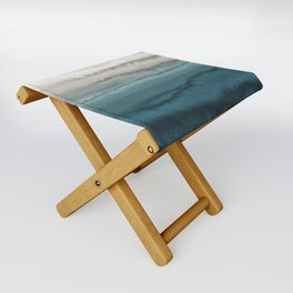 WITHIN THE TIDES - CRASHING WAVES TEAL Folding Stool