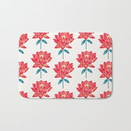 Sacred Lotus – Red Blossom Bath Mat