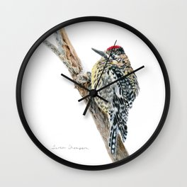 Yellow-bellied Sapsucker by Teresa Thompson Wall Clock