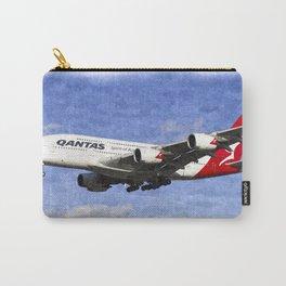 Qantas Airbus A380 Art Carry-All Pouch
