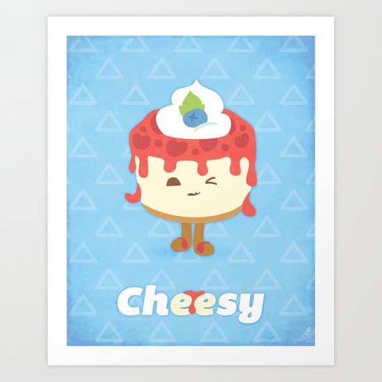 Cheese Cake Art Print