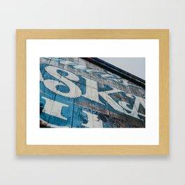 Weathered Sign - Kalama, WA Framed Art Print