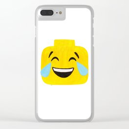 Tears of Joy - Emoji Minifigure Painting Clear iPhone Case