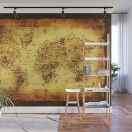 Arty Vintage Old World Map Wall Mural