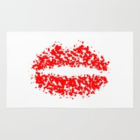 lips Area & Throw Rugs featuring LIPS by ROBAUSCH