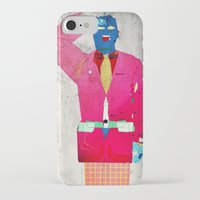 suit iPhone & iPod Cases featuring Suit Salute by Alec Goss