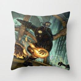 Bioshock 2: Delta and Eleanor wreacking a splicer Throw Pillow