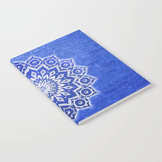 okshirahm, blue crystal Notebook