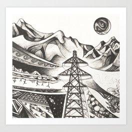Currents: Detail 1 Art Print