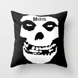 Misfit Skull Throw Pillow