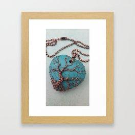 Turquoise Tree of Life Framed Art Print
