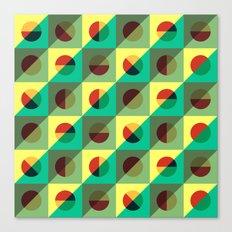 Mint circles & squares Canvas Print