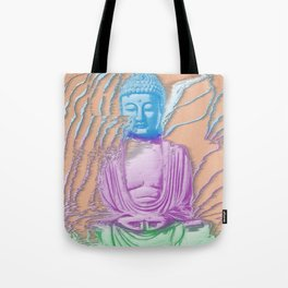 Glitch Buddha Tote Bag