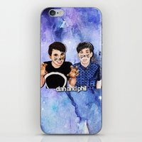 danisnotonfire iPhone & iPod Skins featuring DAN AND PHIL by Share_Shop