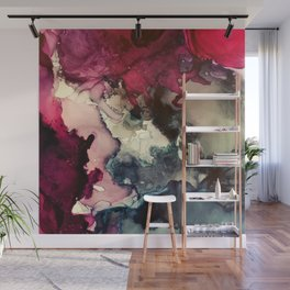 Dark Inks - Alcohol Ink Painting Wall Mural