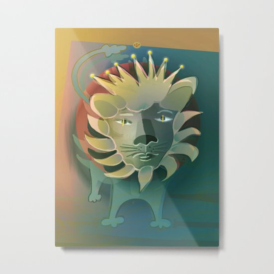Leo / Zodiac Metal Print