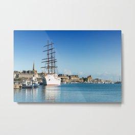 Sea Cloud II at Saint-Malo Metal Print