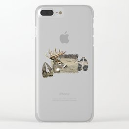 Window Art Deer Clear iPhone Case