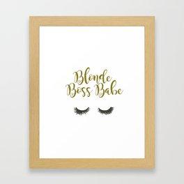 Blonde Boss Babe Framed Art Print